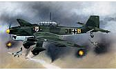 model airplane,plastic airplane model,Ju87B2 Stuka Aircraft -- Plastic Model Airplane Kit -- 1/24 Scale -- #18002