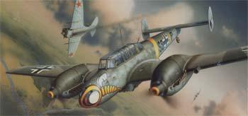 plastic airplane model,model airplane,1/48 Bf110E WWII German Heavy Fighter (Profi-Pack Plastic Kit) (Re-Issue)