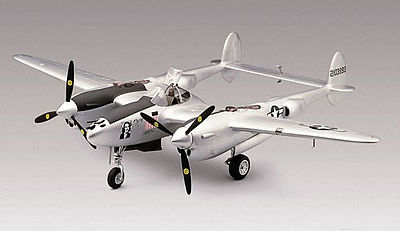 plastic airplane model,model airplane,P-38J Lightning -- Plastic Model Airplane Kit -- 1/48 Scale -- #855479