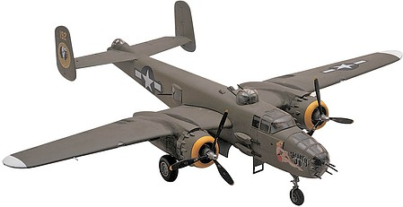 model airplane,model planes,B25J Mitchell Bomber -- Plastic Model Airplane Kit -- 1/48 Scale -- #855512