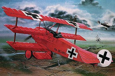 plastic airplane model,model airplane,Fokker DR.I Manfred Von Richthofen Triplane -- Plastic Model Airplane Kit -- 1/28 Scale -- #04744